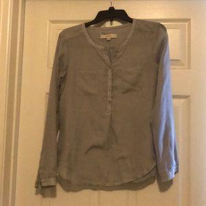 Loft- long sleeve, button down shirt